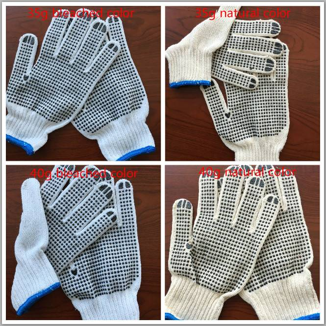 factory price poly cotton gloves