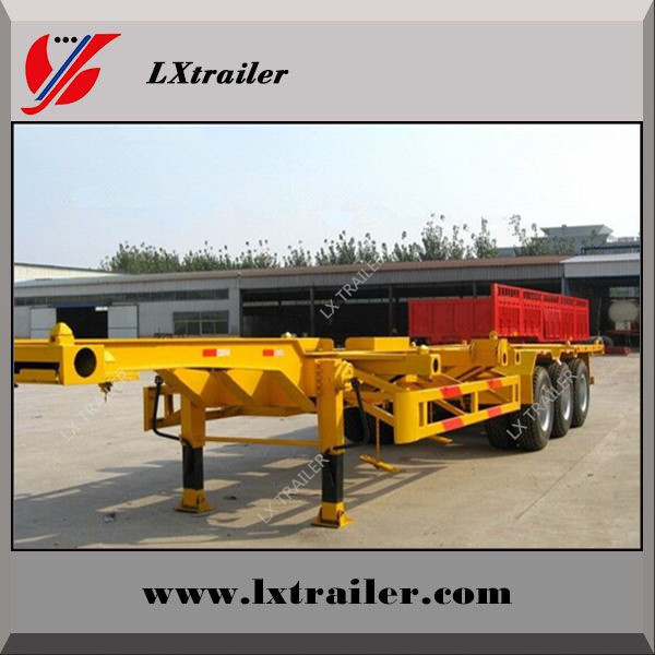 China factory selling 3 axles container skeleton semi trailers
