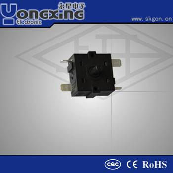 6A 250V AC home application oven rotary switch
