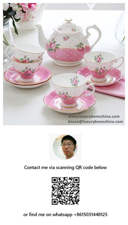 Vintage Bone China Tea Sets Uk Style porcelain Factory Supply Contact Now