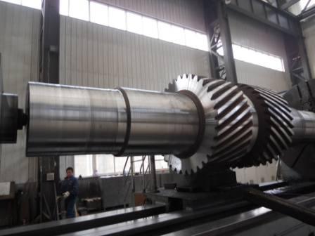 Heat Treatment Heavy Alloy Steel Forgings Gear Shaft Chemical Composition DIN