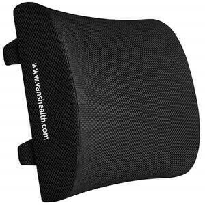 100% Memory Foam Back Support Cushion Lower Back Pain Relief Lumbar Pillow for Chair