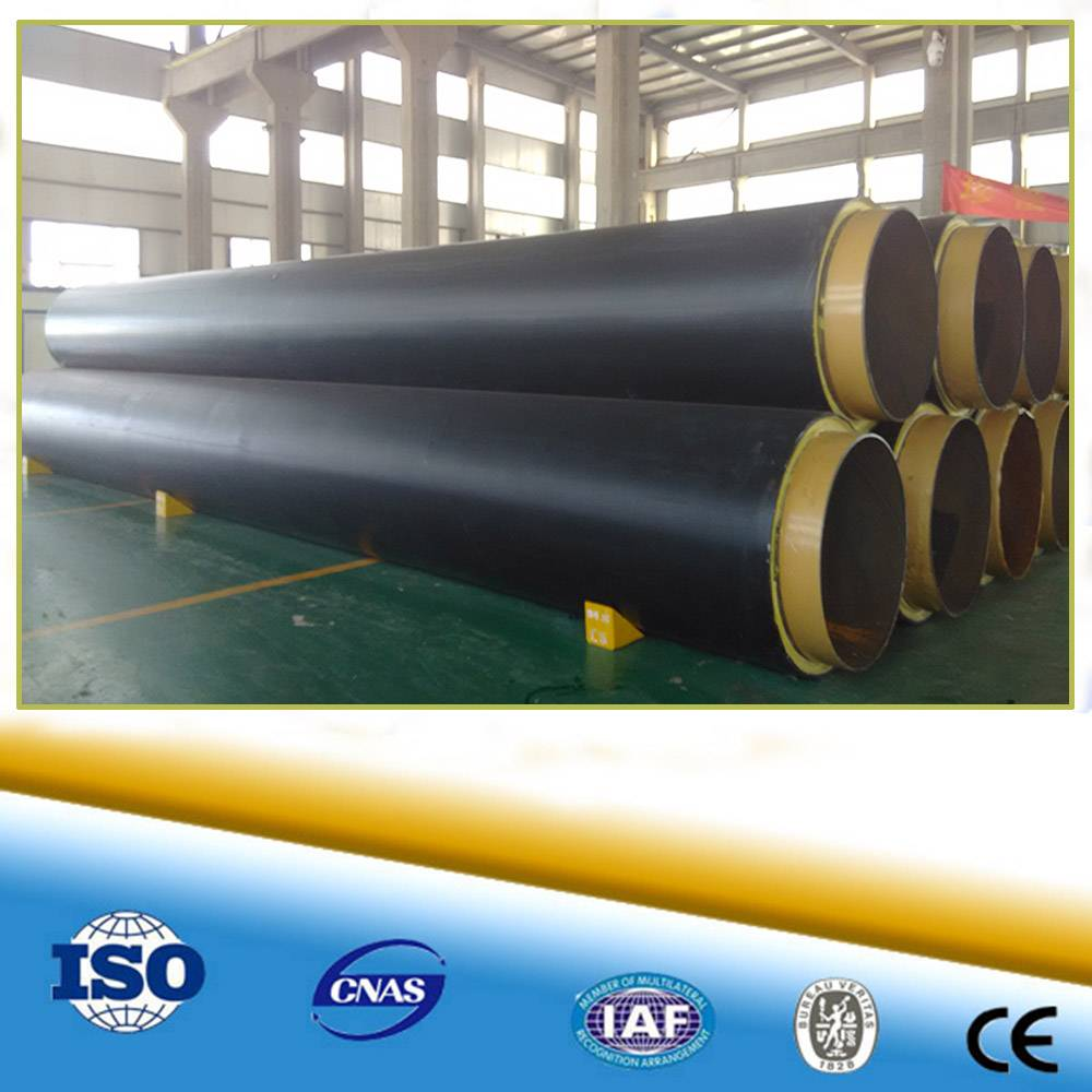 en 253 standard polyurethane thermal insulation pipe steel pipes