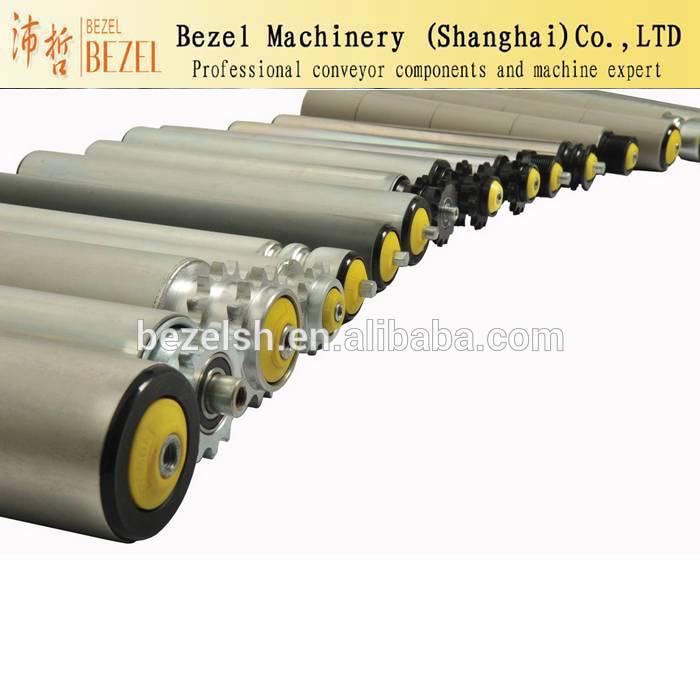 Conveyor belt transition roller conveyor belt guide roller