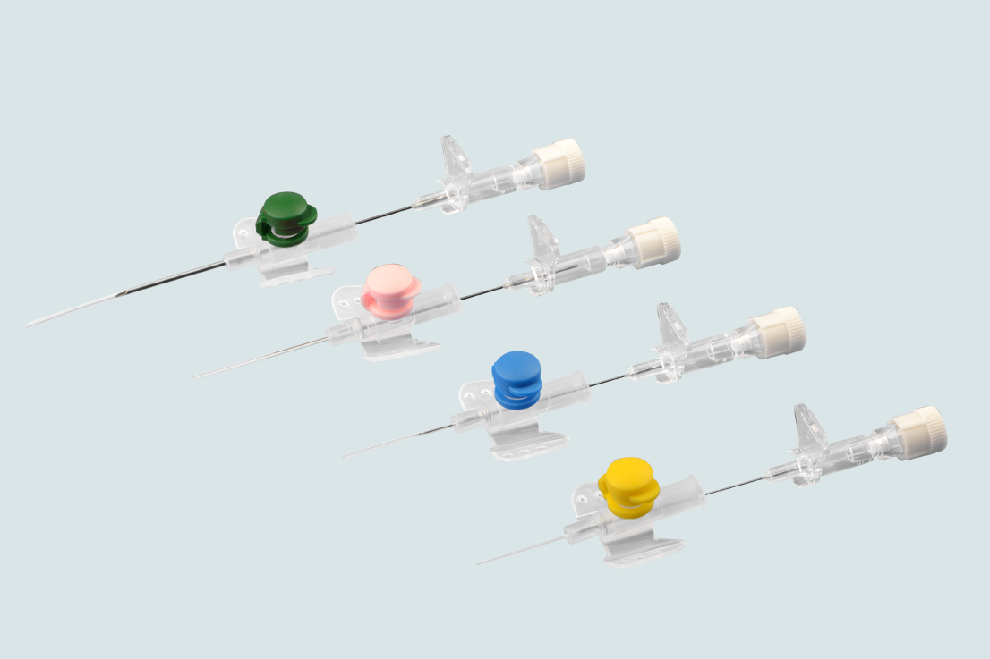 IV catheter with injection port 14G 16G 18G 20G 22G 24G 26G