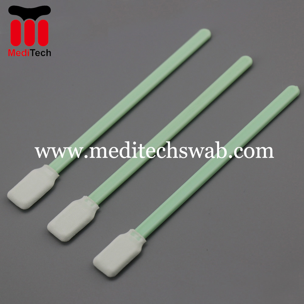Microfiber cleaning swabs