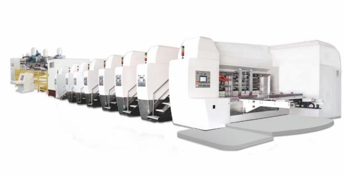 CNC Flexo Printer Die Cutter Slotter And Stacker Machine