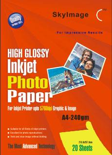 240g Inkjet High Glossy Photo Paper