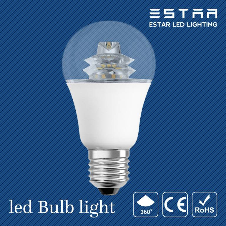 Omni-directional beam led bulb with aluminum radiator & glass cover