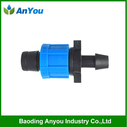Lock type offtake connector for drip tape
