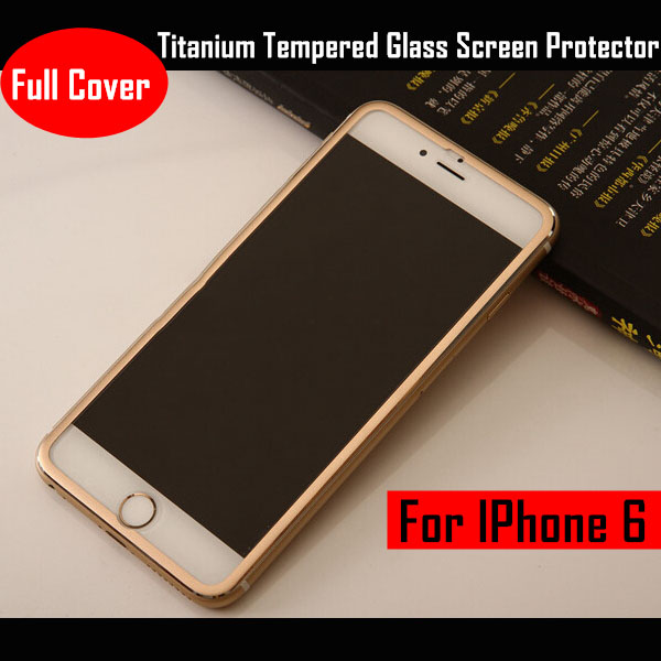 0.33mm 3D Curved Full Cover Titanium Tempered Glass Screen Protector For Iphone 6 6s