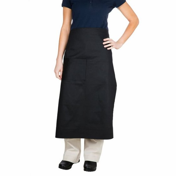 Black Bistro Apron with Pocket
