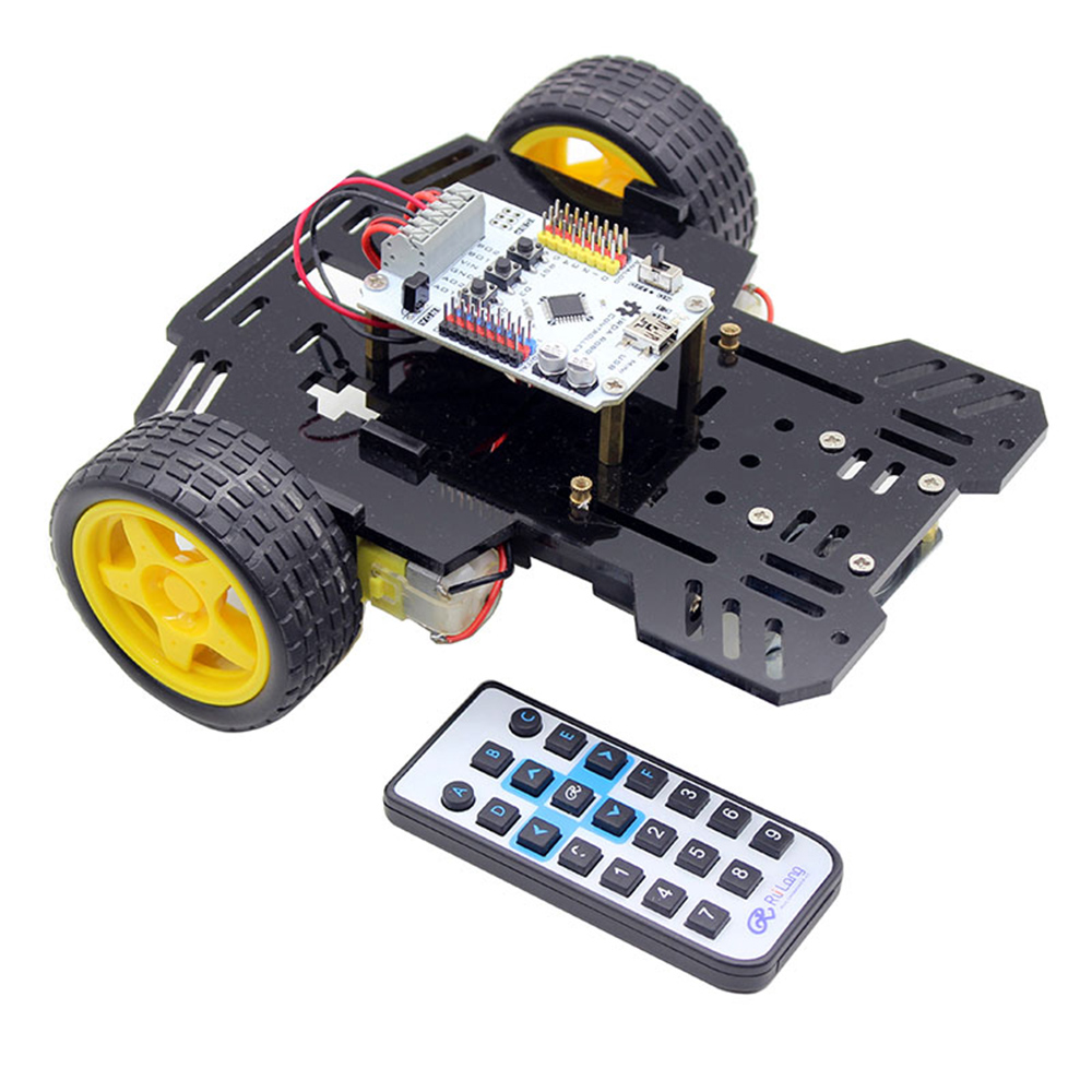 Ruilongmaker 2WD Smart robot car kit compatible with arduino ardublock for starter and beginner