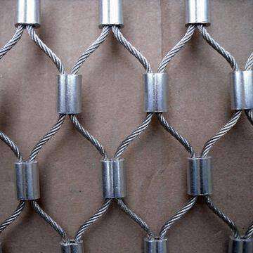Stainless Steel Knotted and Ferruled Rope Mesh