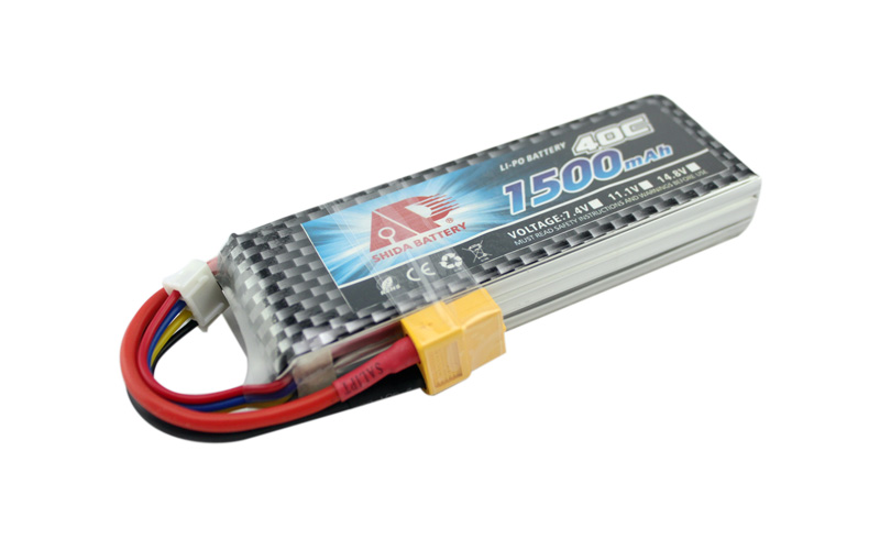 Shida 1500mAh 11.1V 40C rechargeable lipo battery for FPV Drone