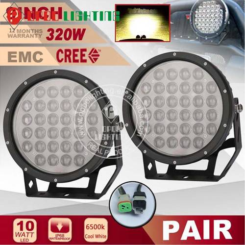 "2016 New 9"" Round Offroad 4D Optics 320W Led Driving Light"
