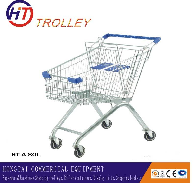 best selling shopping trolley with four wheels for sale