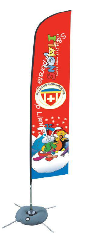 Custom outdoor double sided cheap bow banner
