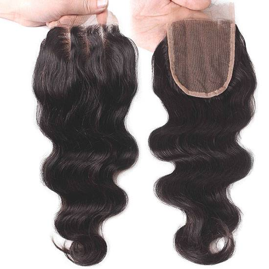 body wave 4*4inch swiss lace closure virgin human hair