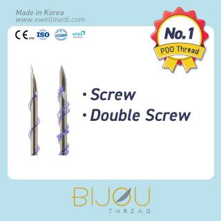 Lifting Thread Screw, Double Screw (PDO ,Polydioxanone)