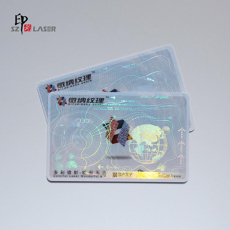 Custom adhesive anti counterfeiting id card overlay hologram