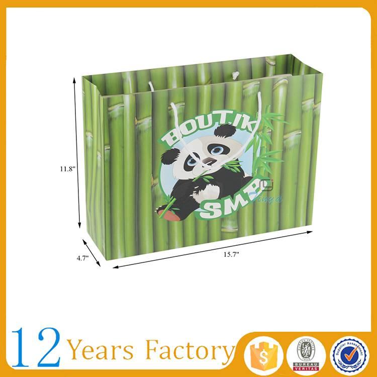 custom cute biodegradable art paper bag gift
