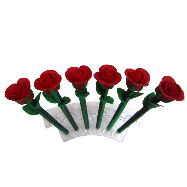 Polymer clay promotional gift rose shape pen