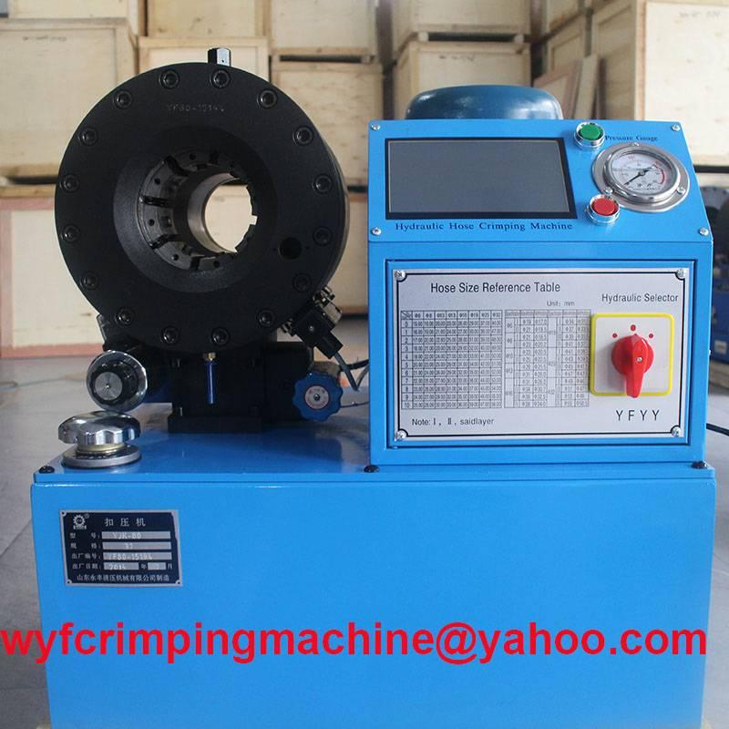 YJK-80 Numerically-Controlled Hydraulic Hose Swaging Machine