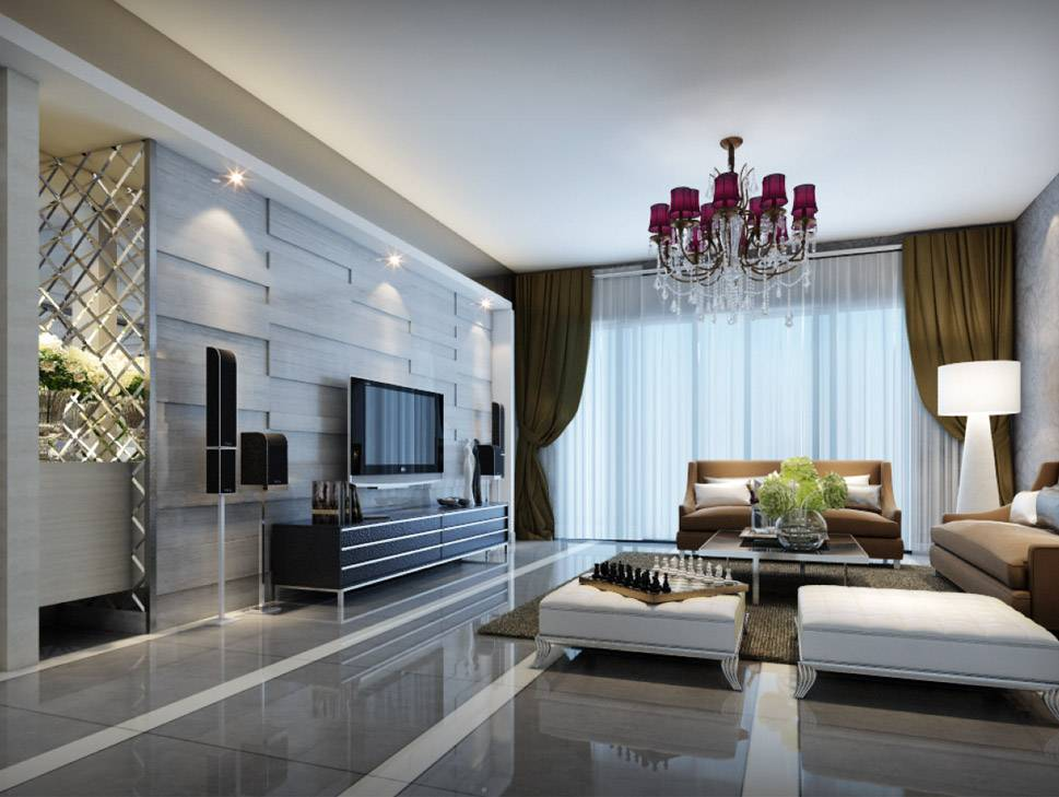 3D Interior Visualization--Living room