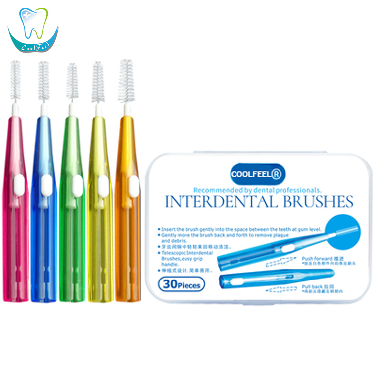 Push Pull type Flexible FDA Approved Interdental Brushes