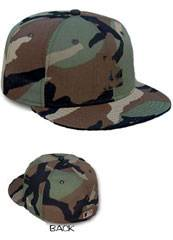 Camouflage Blank Fitted Hats