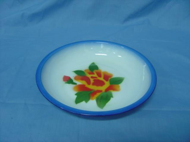 Hot sale 14-26cm enamelware rice plate deco and plain