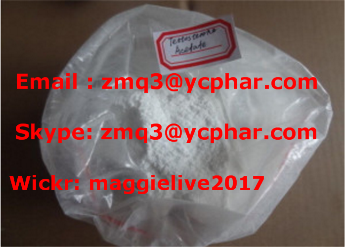 Steroid Powder Testosterone Acetate for Bodybuilding CAS: 1045-69-8