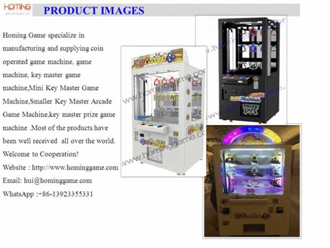 Best quality best price Mini prize master game machine key master vending machine arcade claw machin