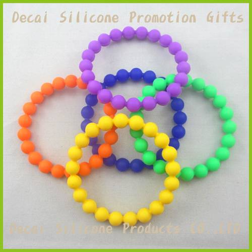 2012 pearl silicone bracelet with exist mould in many colors