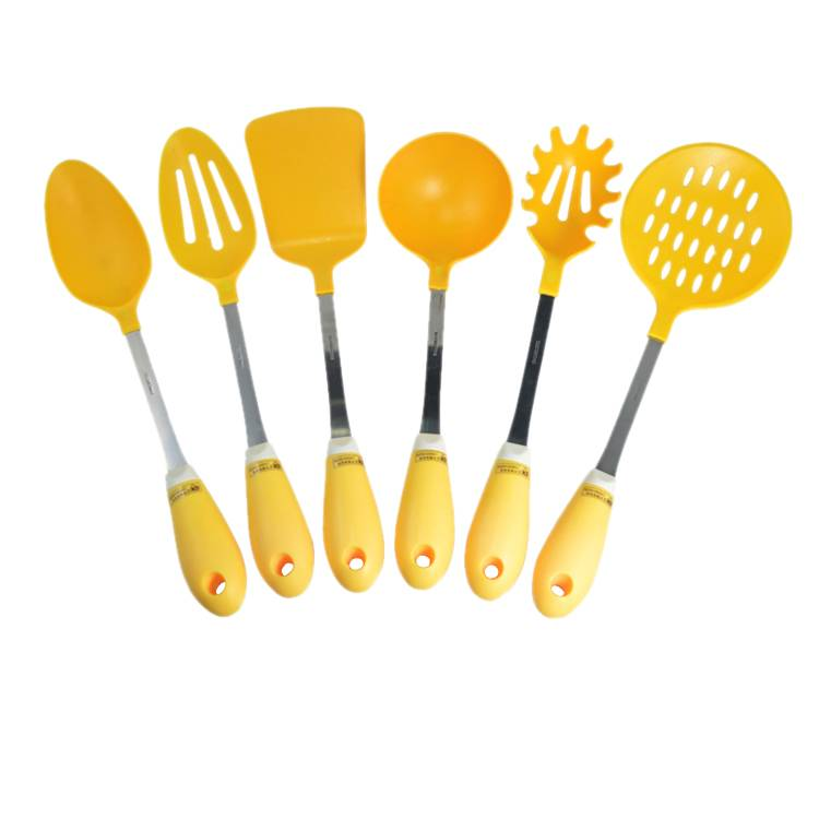Food grade high quality 6pcs nylon kitchen utensils set with PP handle