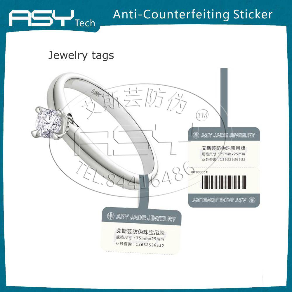 CustomizedJewelry tags with RFID anti-forgery