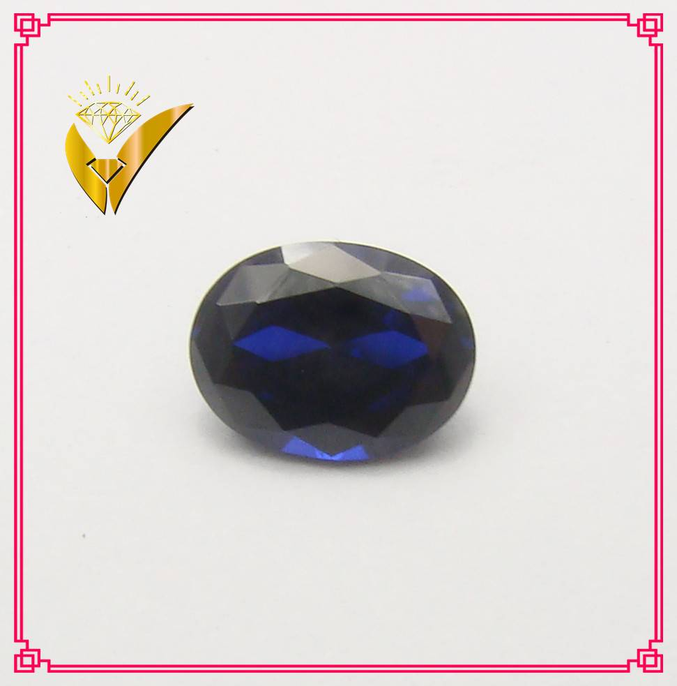 oval cut 34# synthetic sapphire