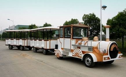 Tourist trackless fun train