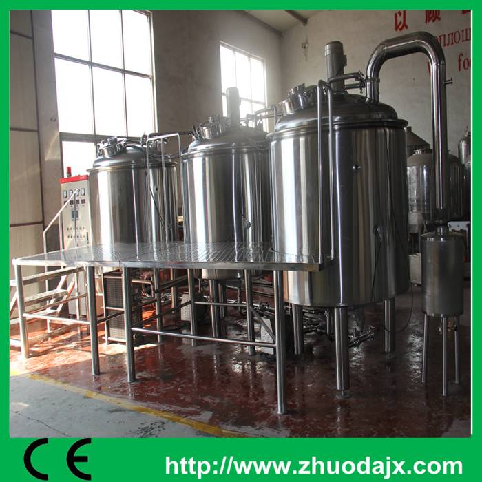 1000L three vessels beer brewing machine for small beer factory