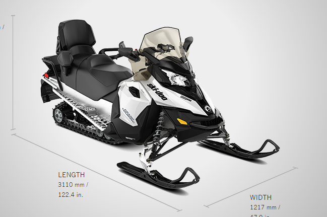 Brand new 2017 Ski-doo snowmobile Grand Touring Sport