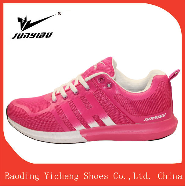 Shiny and simple lace -up black PVC women leisure sneakers