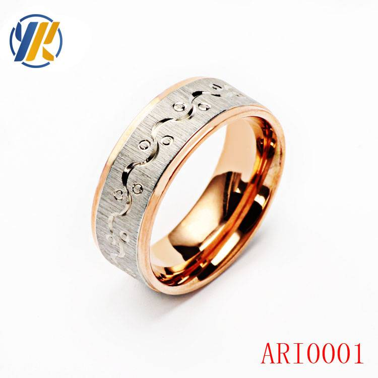Womens fashion jewelry 10k gold plated eight number simple ring best gift