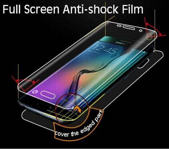 Mobile phone Accessories full cover anti shock screen film for Samsung Galaxy S6 edge screen protect
