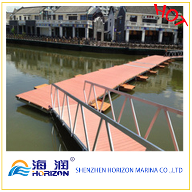 China Manufactured Aluminum Alloy Gangway Ladder with Handrail