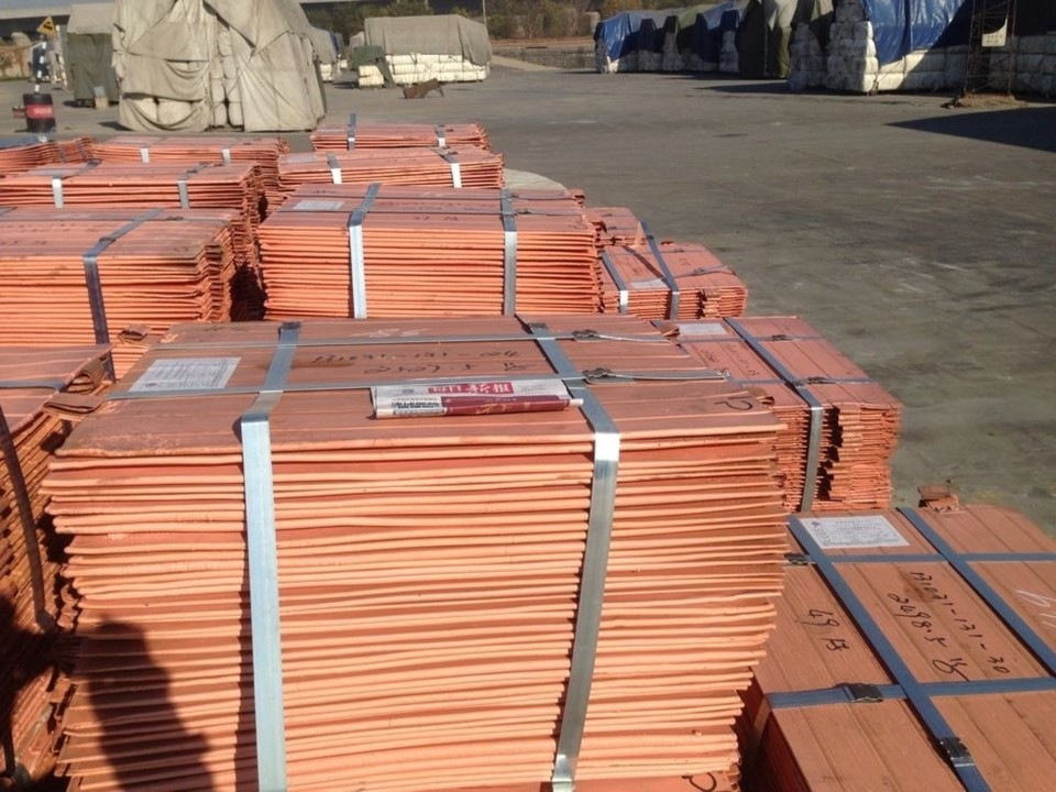 Copper Cathodes of 99.9% purity