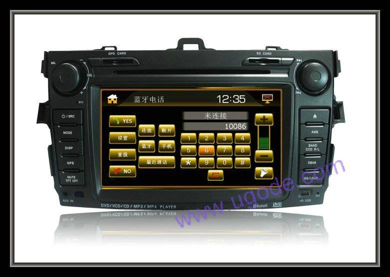 7Inch Touch Screen Car DVD with GPS for Corolla