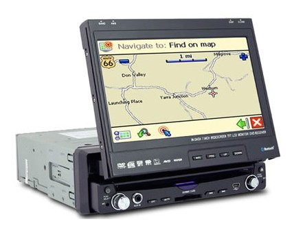 7 Inch One-din In-dash DVD Player with touchscreen