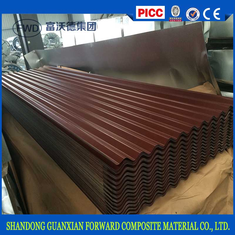 2017 wholesale color coated zinc corrugated steel metal roofing sheets