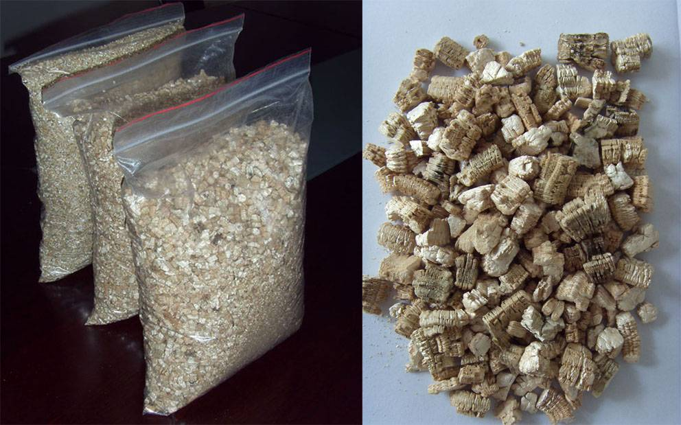 silver and gold vermiculite